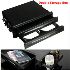 Universal Car Single/Double Din Radio Pocket Kit w/Drink-Cup Holder Storage Box