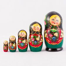 Nesting Dolls Matryoshka Made in Russia Hand Painted Russian Doll  6.2'' 5 pcs