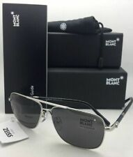 New MONTBLANC Sunglasses MB 508T 16A 61-14 145 Silver Aviator Frame w/ Grey Lens
