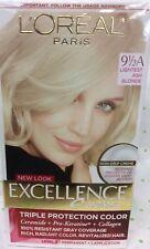 L'Oreal Excellence Crème Hair Color 100% GRAY COVERAGE Lightest Ash Blonde 9.5A