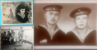 3 Photos of military sailors. KGB of the USSR. Marine units of the border troops