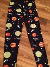 Women's Leggings Space Galaxy One Size Fits 3 - 14 Small, Medium & Large