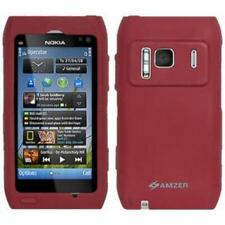 Amzer Silicone Skin Jelly Case - Maroon Red for Nokia N8