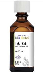 Aura Cacia 100% Pure Tea Tree Essential Oil   GC/MS Tested for Purity   60 ml...