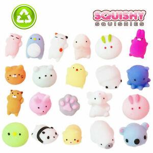 10/20PCS Cute Animal Squishies Kawaii Mochi Squeeze Toys Stretch Stress Squishy