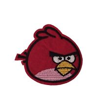 Angry Birds Red Bird 2 1/2 Inch Wide Embroidered Iron On Patch