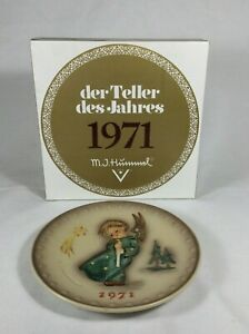 1971 Hummel First Edition Christmas Annual Plate with Original Box