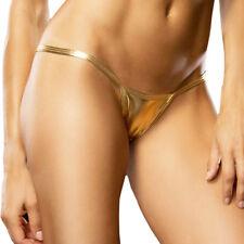 Women Sexy Panties Metallic G String Micro Bikini Thong Shiny Underwear Lingerie