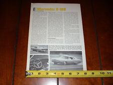 1969 MERCURY MARAUDER X-100 ORIGINAL VINTAGE ARTICLE