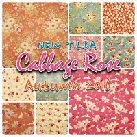 NEW Tilda Autumn 2016 Cabbage Rose 100% Cotton Patchwork Fabric Fat Quarters
