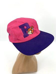 Vintage 1994 Flintstones Pebbles Hanna Barbera 4 Panel Snapback Hat Cap 90s
