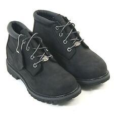 Timberland Women's EK Nellie Chukka 23398 Nubuck Leather Lace-Up Boot Black