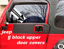 JEEP WRANGLER YJ or TJ  black Rubber Coated DIAMOND PLATE UPPER DOOR GUARDS