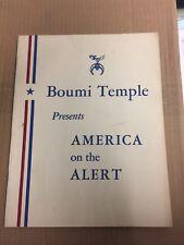 1941 BOUMI TEMPLE WW2 Show America On The Alert Baltimore Stadium Rare PROGRAM