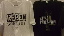 Neil Young Crazy Horse Rebel Content + Sting Paul Simon Together Tour Shirts XL