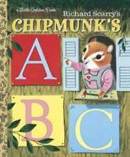 Little Golden Book Ser.: Richard Scarry's Chipmunk's ABC by Roberta Miller (1994, Hardcover)