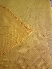 Beautiful Vintage Handmade Knitted woolen blanket, sofa cover, 100% wool