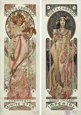 Art Nouveau Moet Chandon   By Alphonse Mucha   Vintage Poster   A1, A2, A3