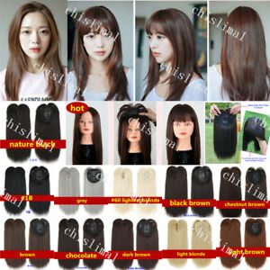 Hot Synthetic Hair Topper Piece Women Hairpiece Toupee Topper Closure with Bangs