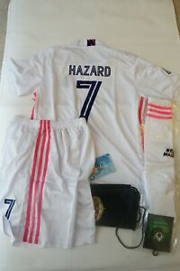 Real Madrid Hazard Jersey Kid Kids soccer jersey Size 26 9 - 10 Years Old