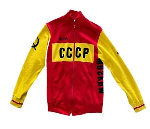 VINTAGE team CCCP MOSCOW RUSSIA acrylic CYCLING JERSEY JACKET