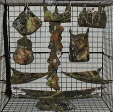 Mossy Oak Breakout*15 Pc Sugar Glider Cage set * Rat * double layer Fleece