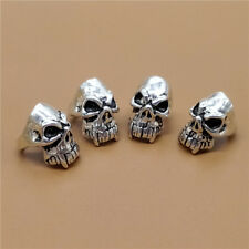2 Sterling Silver Large Hole Pirate Skull Beads 925 Silver for European Bracelet