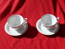 Post Ww2 Occupied Germany Rosenthal 4 Pieces of China 'Maria' Cups & Saucers Vg