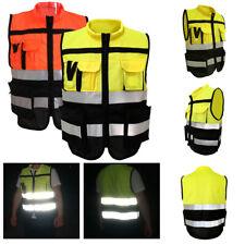 Herren Arbeits Cargo Jacke Reflektierend Safety Sichtbarkeit Highway Workwear