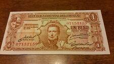 URUGUAY 1 PESO 1939 SERIES D CRISP UNC