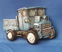 BLUE Vintage Automobile WORK TRUCK - VEHICLE Resin Refrigerator MAGNET