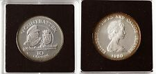 1980 Turks Caicos Large Silver Proof 10 crowns Lord Mountbatten