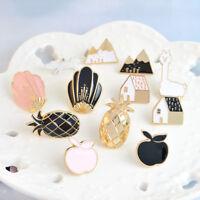 2Pcs Cartoon Gift Unisex Enamel Brooch Denim Jacket Pin Fashion Jewelry Badge