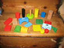 WOODEN STURDY CONSTRUCTION BUILDING THREADING LACED BLOCKS ? MAGNETIC WATER