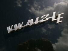 VW Neuteil 411 857 687 B VW 412 Schriftzug VW412 L NO REPRO !!