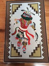 """Vintage Handmade Finished / Completed  Show Fawh Kachina Needlepoint L32"""" X W 21"""