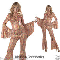 C200 Discolicious Disco Diva 70's Retro Dancing Fancy Dress Women Adult Costume