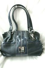 NEW Tignanello BLUE SOFT LEATHER TOTE / SHOULDER HANDBAG Medium size bag  NWT