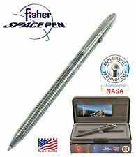 Fisher Space Pen #B4 / Shuttle Series in Chrome with Black Grid