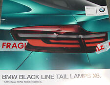 BMW Brand E71 E72 X6 Black Line Taillights Rear Lights Genuine European OEM