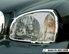 Chrome Head Light Lamp Trim 2p for 2001 2006 Hyundai Santa Fe