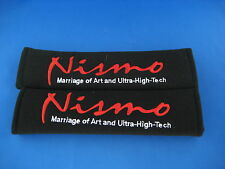2pcs Nismo Embroidered Seat Belt Shoulder Cover Pads