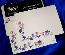"10 Correspondence, Thank you cards with envelopes, Sweet Pea ""Candy Blush"""