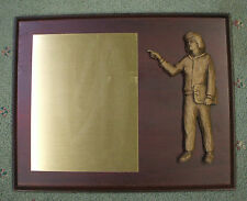 female Coach plaque 10 1/2 x 13 award trophy raised wood look relief