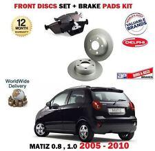 pour Chevrolet Matiz 0.8 1.0 2005- > NEUF ENSEMBLE DISQUES DE FREIN AVANT +