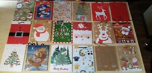 3no Med Christmas Gift Bags Wrapping Present Party Bag Xmas Bags UK Seller.