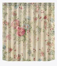 """72x72""""Bathroom Fabric Waterproof Shower Curtain-Plain Flower Vintage-12hook 1661"""