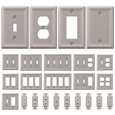 Wall Switch Plate Outlet Cover Toggle Duplex Rocker - Brushed / Satin Nickel