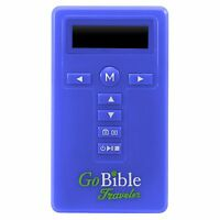 Used GoBible Traveler New International Version, NIV, Free Shipping, blue