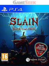 SLAIN BACK FROM HELL PS4 - PLAYSTATION PS4 BRAND NEW FREE DELIVERY